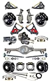 NEW SUSPENSION & BRAKE SET WITH CURRIE REAR END, AXLES, POSI-TRAC GEAR, DROP SPINDLES, WILWOOD 13'' DISC BRAKES, BLACK CALIPERS, CYLINDER, BOOSTER, ARMS, 59-64 CHEVY IMPALA BEL AIR BISCAYNE BROOKWOOD