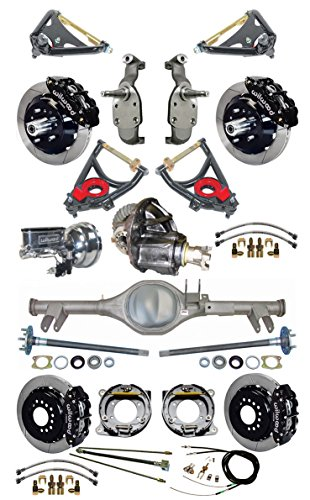 NEW SUSPENSION & BRAKE SET WITH CURRIE REAR END, AXLES, POSI-TRAC GEAR, DROP SPINDLES, WILWOOD 13'' DISC BRAKES, BLACK CALIPERS, CYLINDER, BOOSTER, ARMS, 59-64 CHEVY IMPALA BEL AIR BISCAYNE BROOKWOOD by Southwest Speed