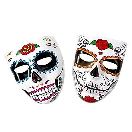 Máscara Catrina Rosa en Barbilla PVC