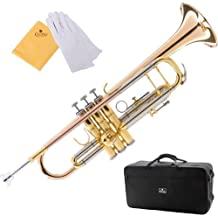 Cecilio 3Series TT-380GB Intermediate Double-Braced Bb Trumpet with Monel Valves + Case, Mouthpiece and Accessories