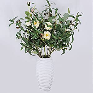 "SUPLA 5 Pack Artificial Olive Branch Spray Plants Houseplant Olives Fruit Plants Greenery UV Resistant Plants 28.3"" Tall for Olive Wreath Indoor Outdoor Wedding Bouquets Floral Arrangements 5"