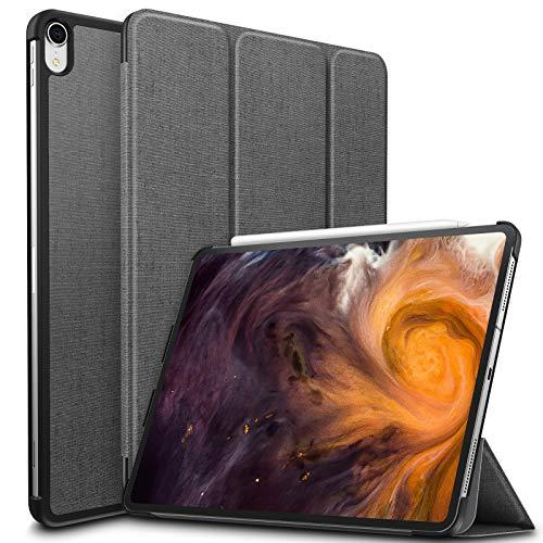 Infiland iPad Pro 12.9 2018 Case، Tri-Fold Case Cover سازگار با iPad Pro 12.9 Inch 3rd Gen 2018 نسخه (پشتیبانی 2 قلم اپل شارژ مداد ، خودکار بیدار / خواب) (Premium Purple)