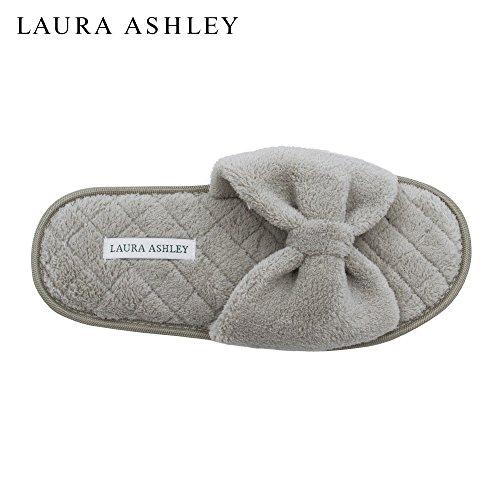 Laura Ashley Mesdames Pantoufles Ouvertes Toe Spa Avec Arc Et De La Mousse  De Mémoire Semelle ... d71c79c78bbe
