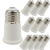 Bulb Converter Pack of 10 By SooFoo, Light Socket Extender Adapter E26/E27 to E26/E27 Durable Bulb Socket Extension, Fits LED/CFL Light Bulbs