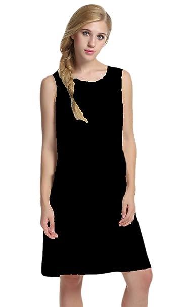 Sleeveless Shift Dress Sundress Floral Print House Dresses For Women