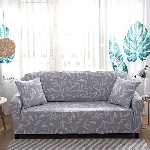 iisutas Stretch Couch Covers Sofa Slipcovers Fitted Cover Seat Furniture Protector With Two Pillow Case 54