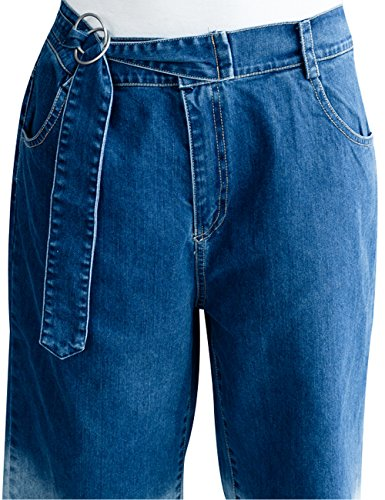 Pantaloni Youlee Donna 15 Harem Ampia Foro Jeans Leg Vita Elastico Stile AYwrAq