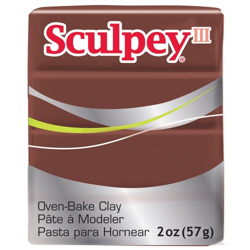 (Sculpey III Polymer Clay 2 Ounces-Chocolate)