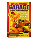 T-ray Full Service Garage the best of both hot rods and classic pin up girls vintage Garage wall art