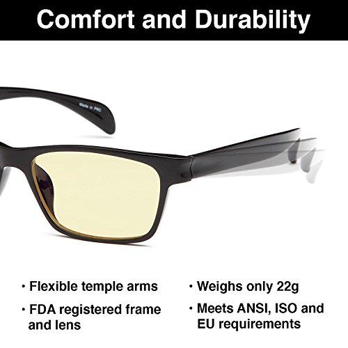 d59120a4b154 GAMMA RAY 003 UV Glare Protection Amber Tinted Computer Readers Glasses Anti  Harmful Blue Rays in
