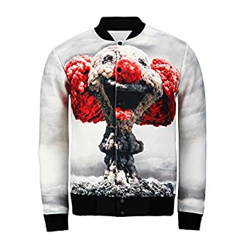 Nuevo 2018 nube 3d impresión payaso chaqueta hombre/mujer harajuku swag gracioso Abrigo invierno hombre chaquetas casual: Amazon.es: Deportes y aire libre