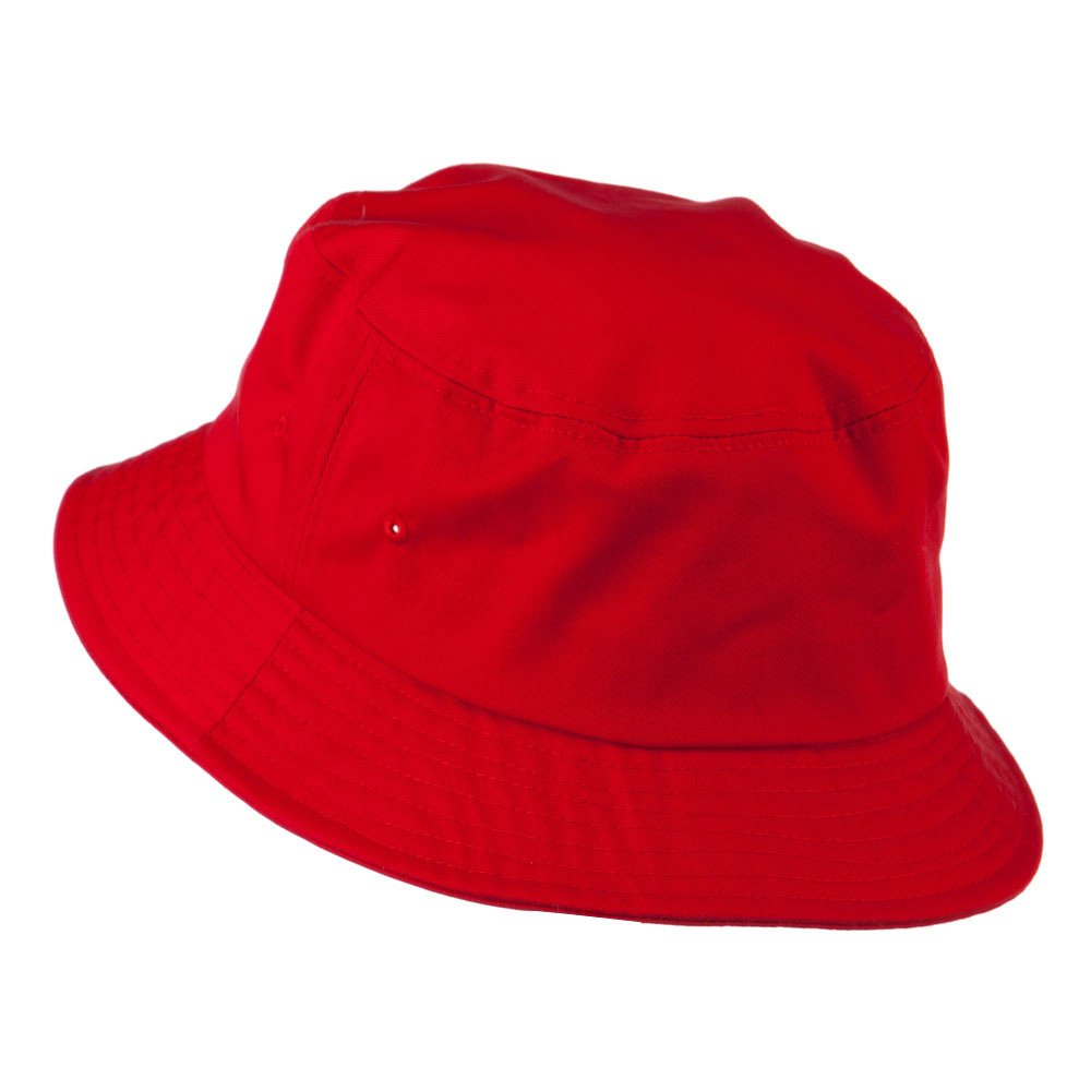 408a91fffcf Big Size Cotton Blend Twill Bucket Hat - Red (For Big Head) at Amazon Men s  Clothing store
