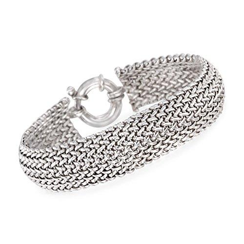 Sterling Silver Mesh Bracelet (Ross-Simons Italian Sterling Silver Riso Bracelet)