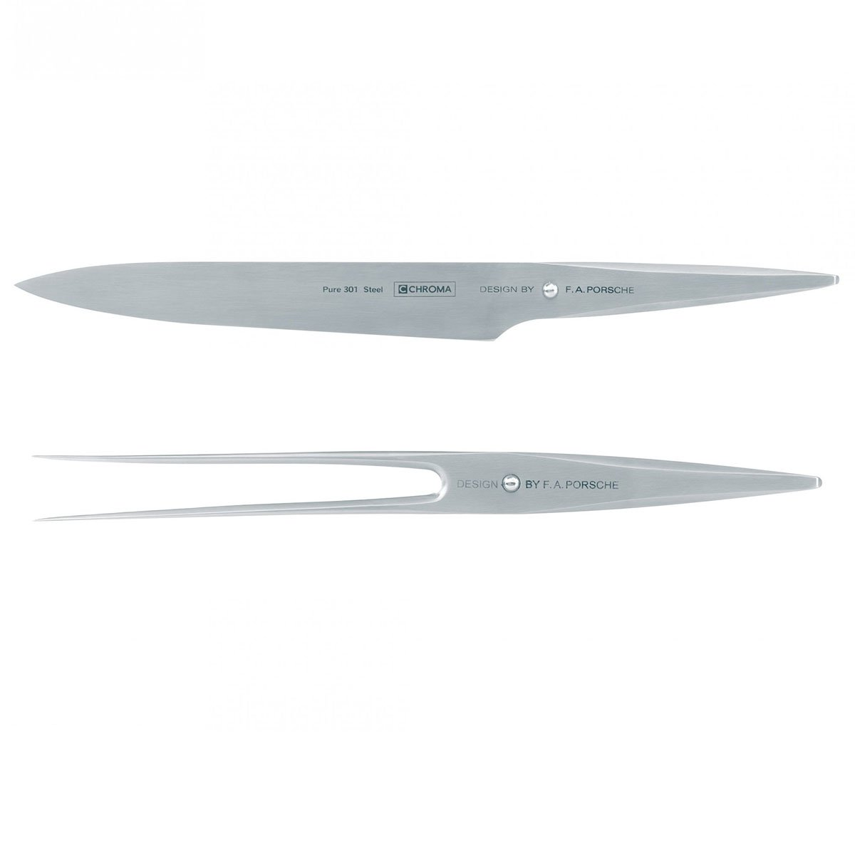 Chroma by F. A. Porsche Type 301 Carving Fork and 8-Inch Chef's Knife by Chroma (Image #1)
