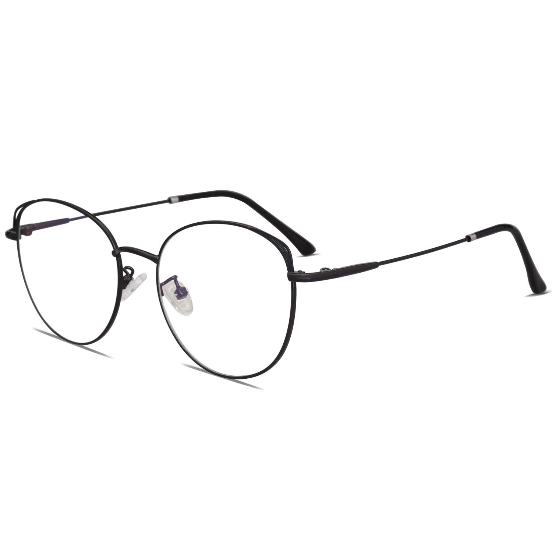 91a9c16ffde7 Amazon.com  SOJOS Cat Eye Blue Light Blocking Glasses Street Fashion Metal  Frame Women Eyeglasses SJ5027 with Black Frame Anti-Blue Light Lens  Health  ...