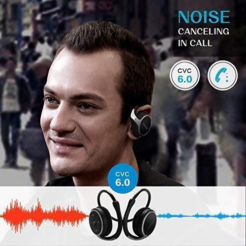 LinkWitz Casque sans fil Bluetooth Écouteurs Marathon2Sports-Bluetooth 4.1-Noir