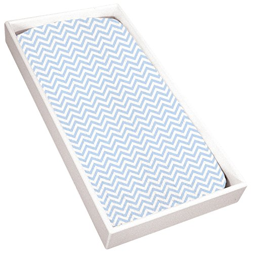Kushies Baby Terry Changing Pad Cover, Blue Chevron