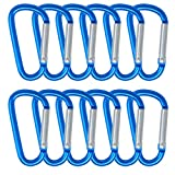 Wobe 20 Pack of 3 inch Carabiner Clip, Aluminum Carabiners Clip Set D-Ring Spring Loaded Gate Small Keychain Mini Lock Hooks Spring Snap Link Key Chain Multicolor for Outdoor Camping
