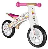 Bikestar Original Safety Wooden Lightweight First Running Balance Bike air tires Kids age 2 year old boys girls  10 Inch Edition  Princess White