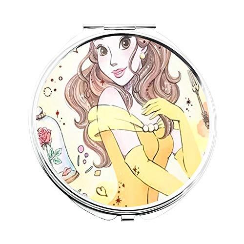 DISNEY COLLECTION Makeup Mirror for Women Girls Best Disney Princess Image Pattern -