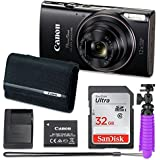 Canon PowerShot ELPH 360 HS Digital Camera (Black) with 32GB Memory + Canon Case + Flexible Gorillapod