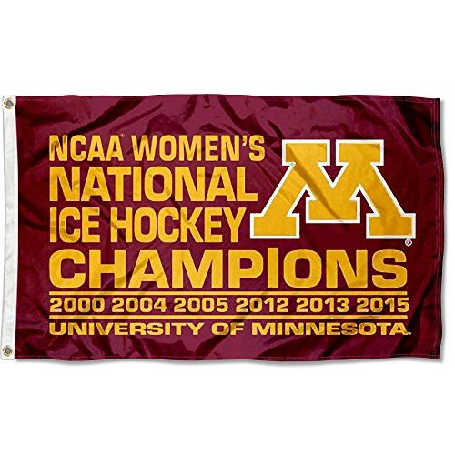 College Flags and Banners Co. Minnesota Gophers Women's Hockey Champs Logo Flag