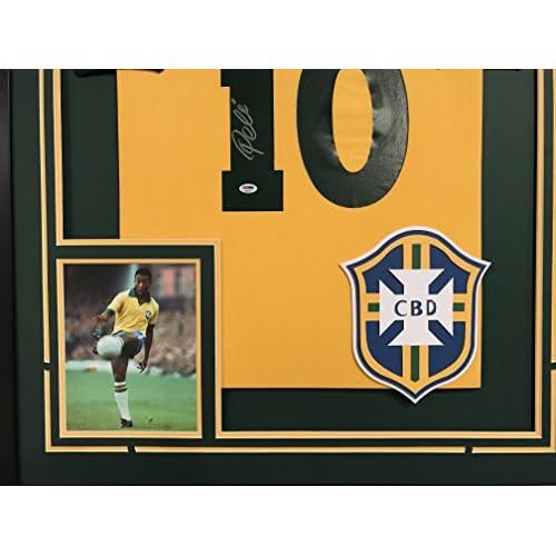 359491a2021 Pele Autographed Brazil Brasil Jersey PSA/DNA COA [5XGCO1011545 ...