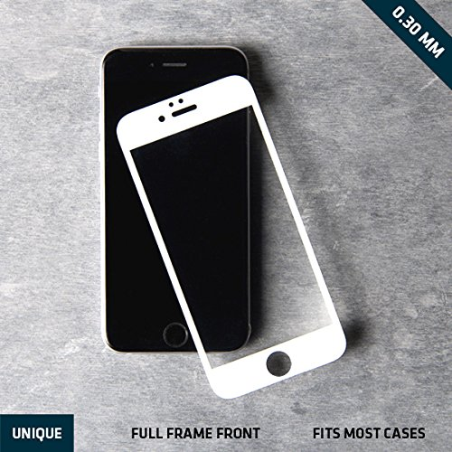 Apple iPhone 6 Plus The Unique 0.30 mm Full Front Glass Screen Protector - HD Clear Ultimate Glass Screen Protector- Benks Technology USA iPhone 6 Edge to Edge Shatterproof Glass Screen Protection - Protect Your Phone from Scratches, Drops, Shocks and Impacts - Total HD Clarity and Touchscreen Sensitivity