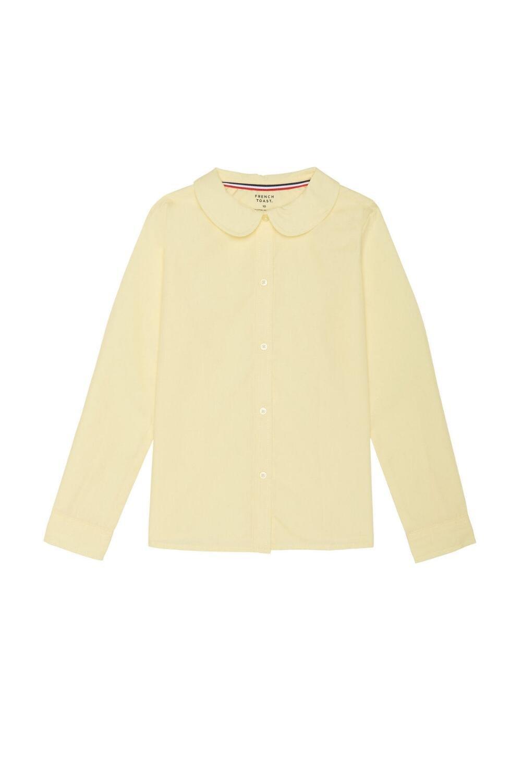 French Toast Toddler Girls' Long Sleeve Modern Peter Pan Collar Blouse, Yellow, 2T
