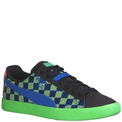 Puma Men's Clyde Pit Crew Fashion Sneakers Puma Black/802 C Fluro Green PES 9 | Fashion Sneakers