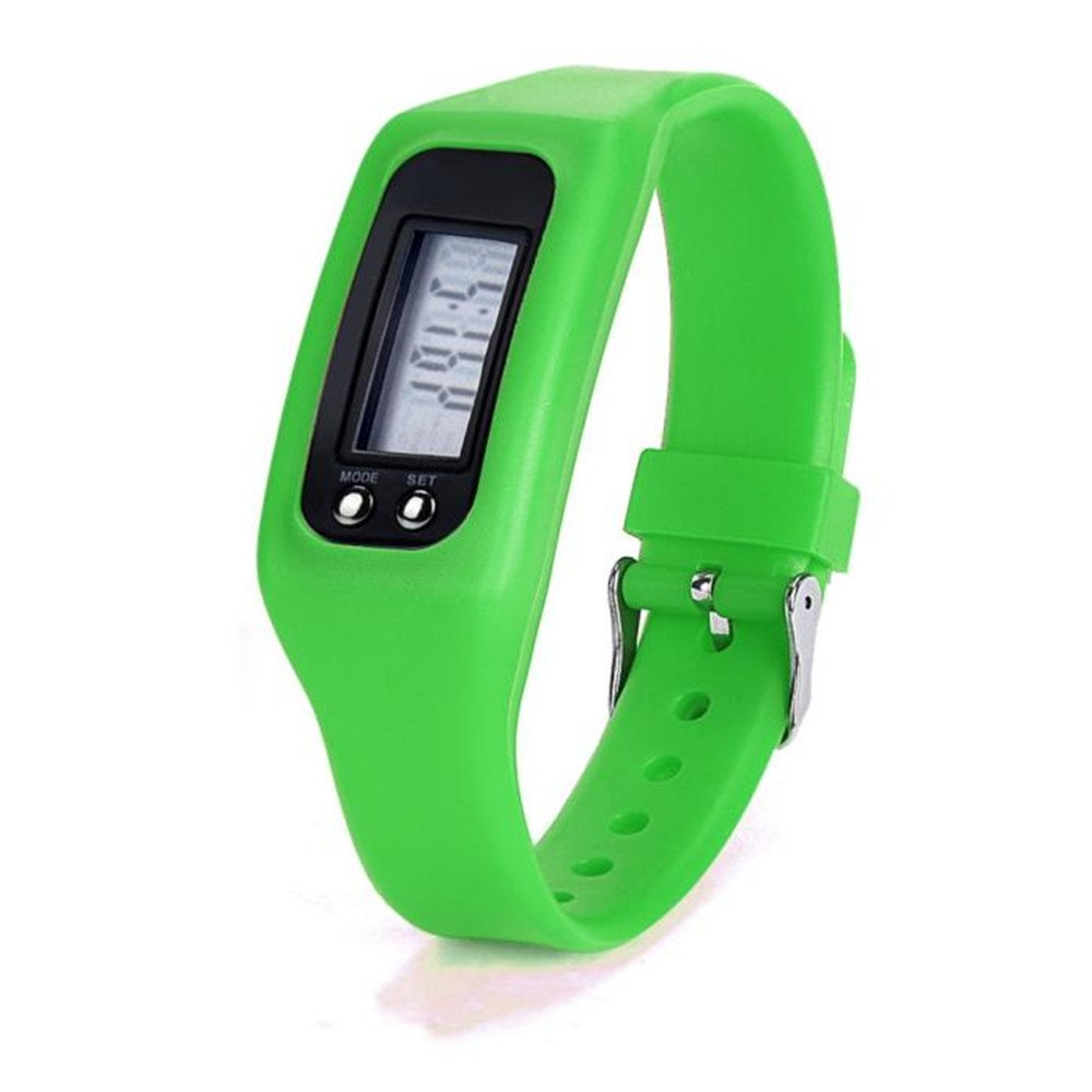 Mens Womens Digital Watch,Hosamtel Male Female Boys and Girls LED Sports Pedometer Run Step Walking Distance Calorie Counter Wrist Watch for Men and Womens C98 (Green)