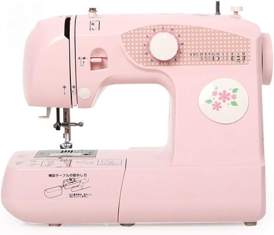 Mini máquina de coser eléctrica portátil para principiantes Escritorio del hogar Comer eléctrico gruesa correa cosidos máquina de coser portátil de bolsillo Pequeño multifuncional Máquina de coser Máq