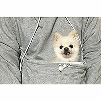 Women's Mewgaroo Pet Holder Hoodie - Cat Ear Hooded Sweatshirt - Gray Or Black