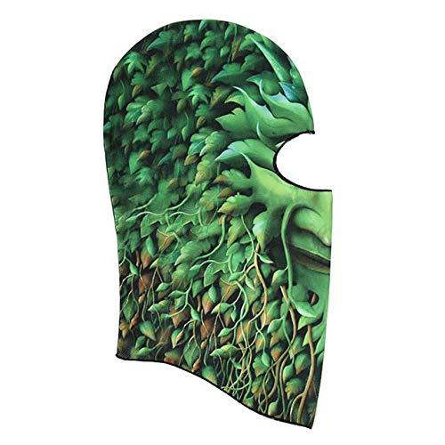 Gold Happy Green Trees Pattern Ski Neck Face Protect Camping Travel Hiking Outdoor Sports Protection Face Neck Scarf Headscarf