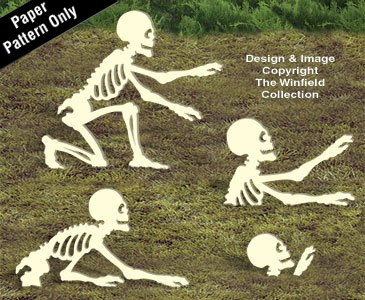 More Rising Skeletons Woodcraft Pattern -