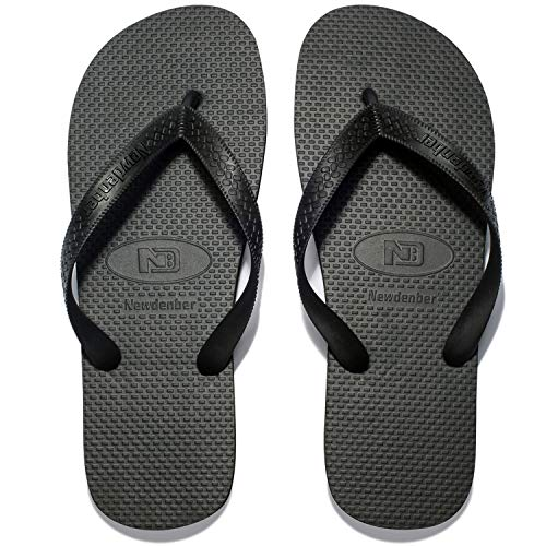 - NewDenBer NDB Men's Classical Comfortable EVA Rubber Sandal Flip Flop (Men 11 M US, Black)