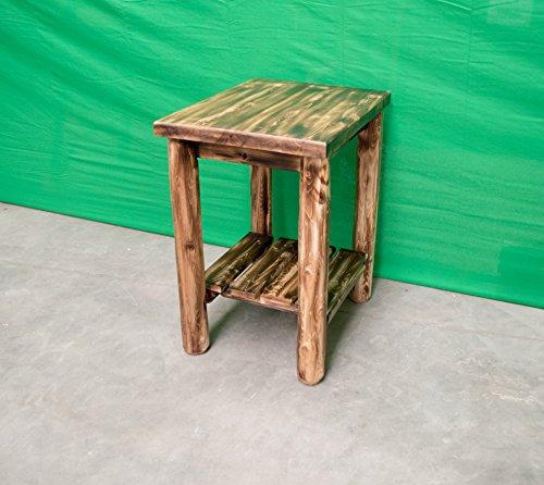 Cedar Log Dresser (Midwest Log Furniture - Torched Cedar Log Dresser - Sofa End Table)