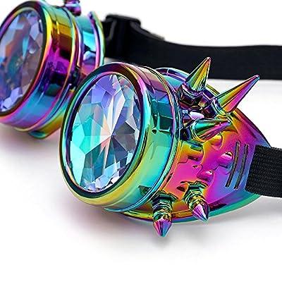 Gafas de Caleidoscopio Fiesta del festival Rave Gafas de sol EDM Lente difractada By LMMVP (21.0 *15.0*5.0, Multicolor)