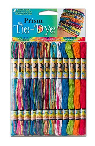 DMC PRISM-TIE Prism Cotton 6 Strand Floss Craft Thread, Tie Dye, 36/Pkg