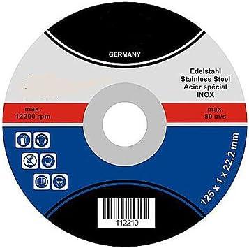 25 Trennscheiben 125 x 1,0 INOX 1 mm Metall Edelstahl