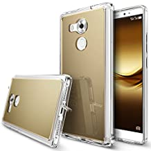 Huawei Mate 8 Case, Ringke [FUSION MIRROR] Bright Reflection Radiant Luxury Mirror Bumper [Drop Protection/Shock Absorption Technology][Attached Dust Cap] For Huawei Mate 8 - Royal Gold