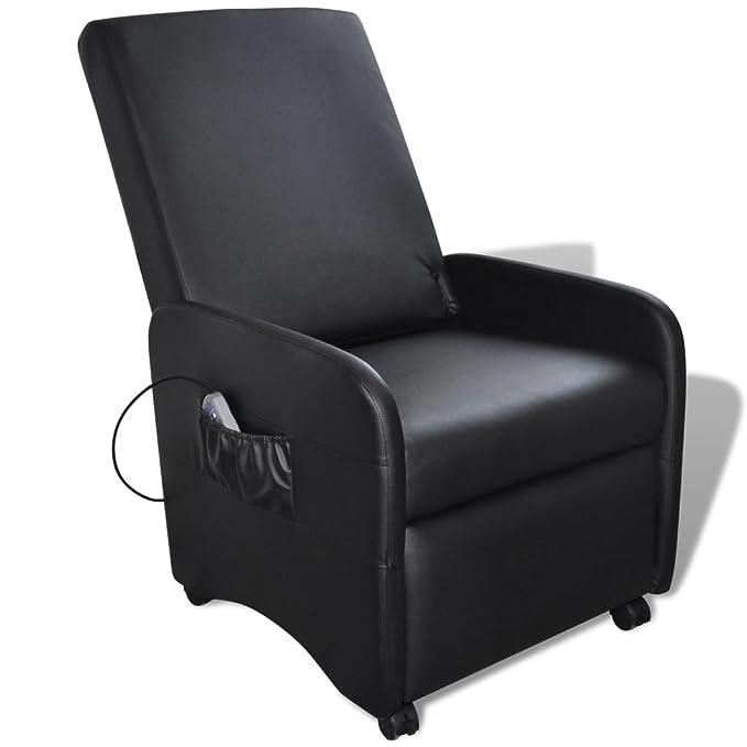 1 opinioni per vidaXL Poltrona Sedia da Massaggio Pieghevole reclinabile Pelle Artificiale Nera