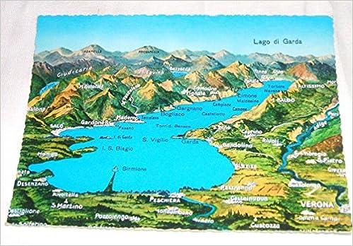 Cartina Lago Di Garda E Dintorni.Amazon It Cartolina Cartina Lago Di Garda E Dintorni Aa Vv Libri