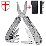 Multitool with Mini Tools, Knife, Pliers - Best Swiss Army Knife and Tool - Big Attachable Set Bits - Cool Utility Multi Function Tool - Good Heavy Ultimate Multi-tool Kit for Camping - Grand Way 2238