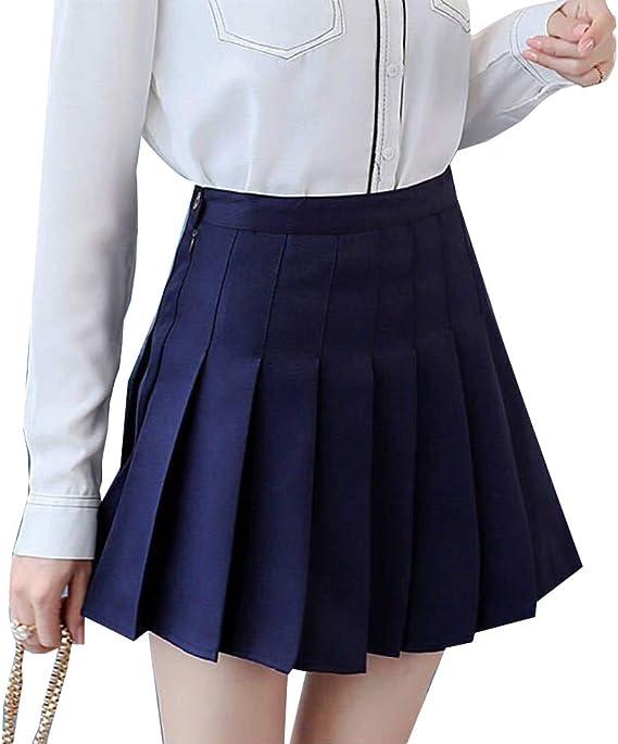 HNGPB Falda Plisada a Cuadros con Pantalones Cortos japoneses de ...