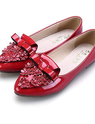 PDX/Damen Schuhe flach Ferse Ballerina/spitz/geschlossen Zehen Wohnungen Kleid/Casual Schwarz/Pink/Rot/mandel, - pink-us6 / eu36 / uk4 / cn36 - Größe: One Size