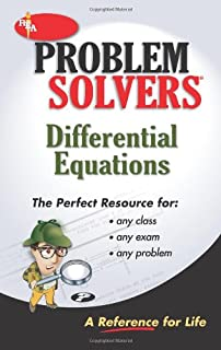 calculus problem solver problem solvers solution guides editors  the differential equations problem solver