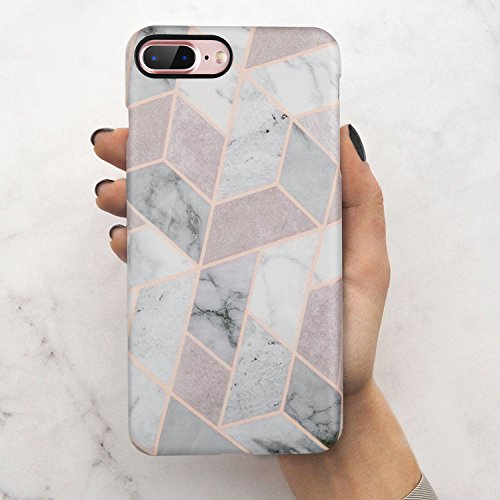 iPhone 7 Plus Case,iPhone 8 Plus Case,LUMARKE Slim-Fit Matte TPU Clear Bumper Flexible Rubber Silicone Rugged Thin Protective Phone Case Cover for iPhone 7 Plus iPhone 8 Plus 5.5 (G Marbles)