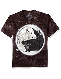 The Mountain Men's Yin Yang Wolves Adult T-Shirt