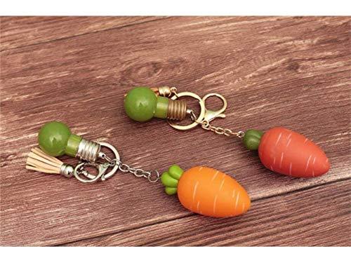 MJY Exquisito con luz Colgante_Rojo Exótico Joyas pequeñas Cute Cartoon Zanahoria Llavero Accesorios Colgante